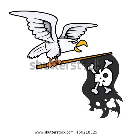 eagle holding pirate flag