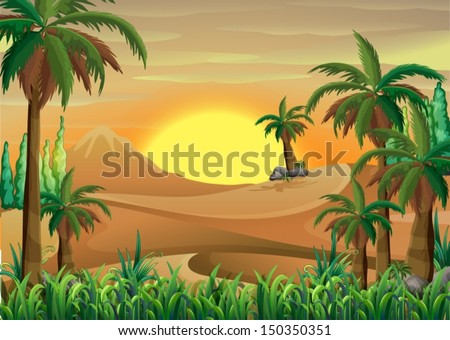 illustration of a forest at the