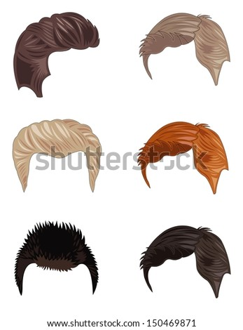 set of men's hairstyles