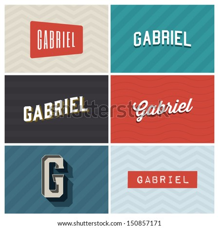 name gabriel  graphic design