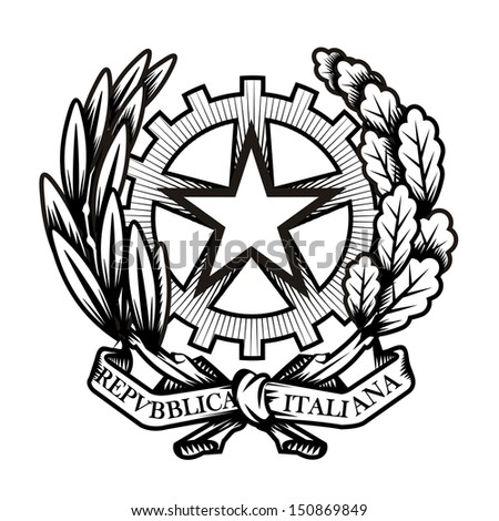 italy coat of arms vector