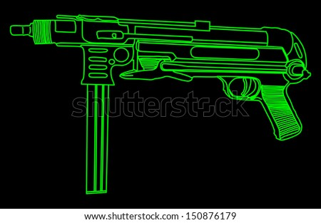 black and green rifle