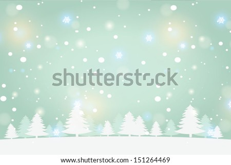 snow landscape background