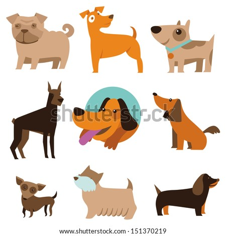 vector set of funny cartoon