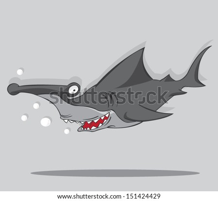 cartoon hammer fish shark