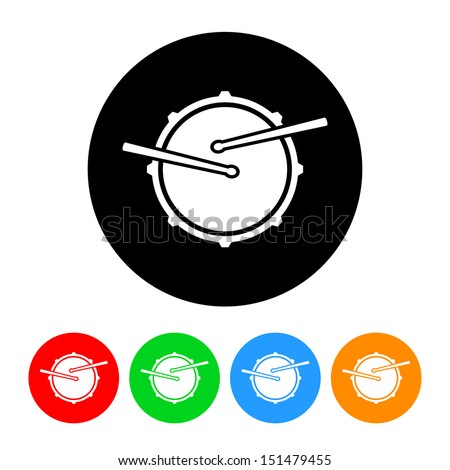 snare drum icon vector with