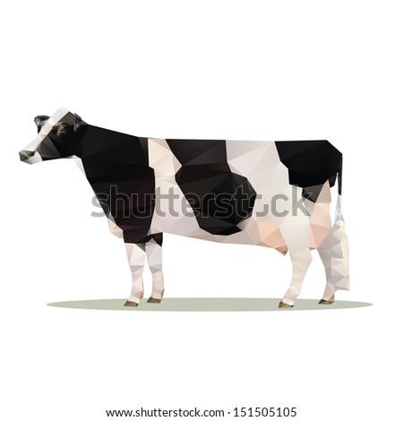 cow polygon vector