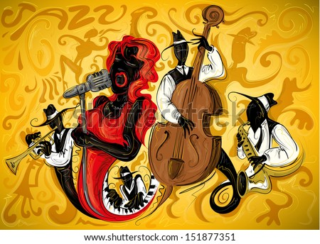 abstract jazz art 3  vector