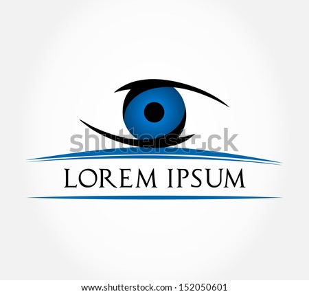 eye symbol eyeball vector