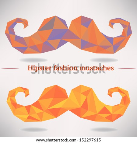 vector set of geometric hipster