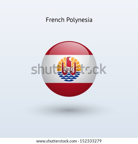 french polynesia round flag on
