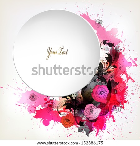 abstract flower with colorful