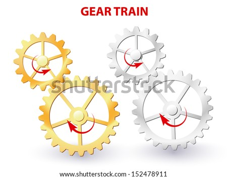 two meshing gears transmitting