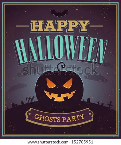 happy halloween typographic