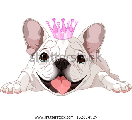 illustration of royalty bulldog