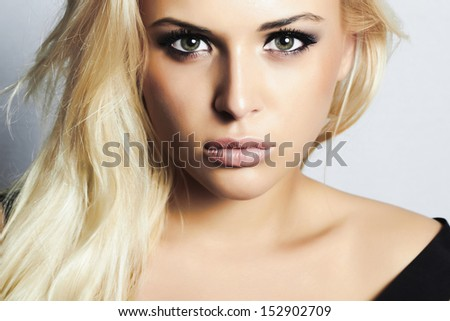 close up beautiful blond girl