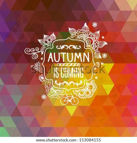 vintage pattern with autumn
