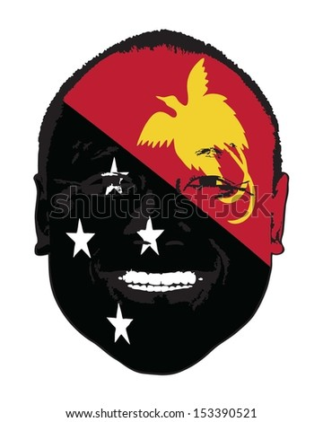 a papua new guinea flag on a
