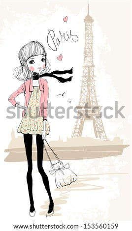 shopping girl in paris