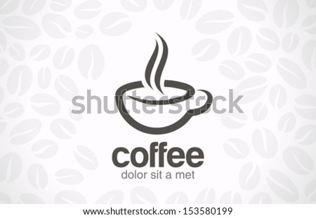 coffee cup vector logo design