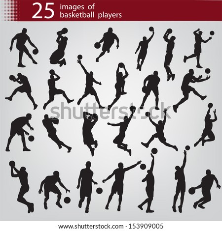 25 black images of basketball