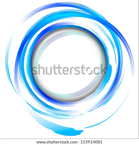 blue abstract painting design