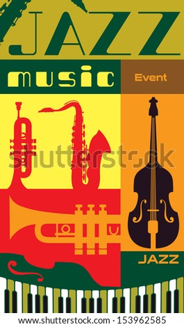jazz music event poster  vector