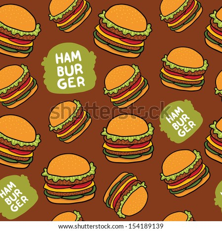cartoon hamburger seamless
