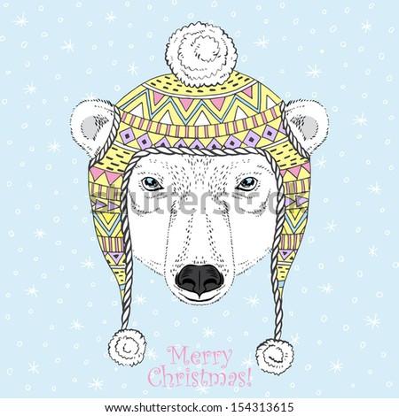 portrait of polar bear in