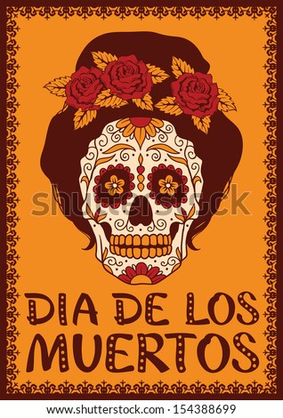 Art Skull Day Of The Dead Men/'s Tee Image by Shutterstock
