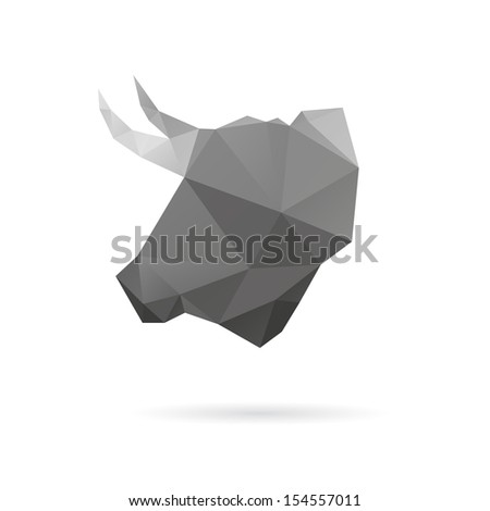 bull abstract isolated on a
