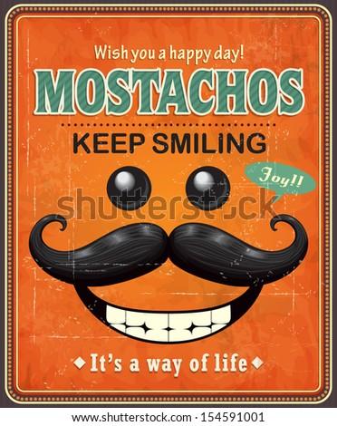 vintage mostachos poster design