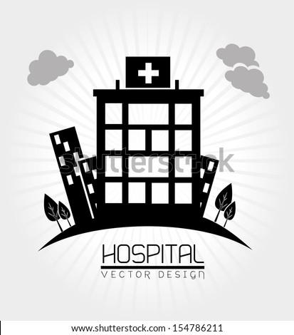 hospital design  over white