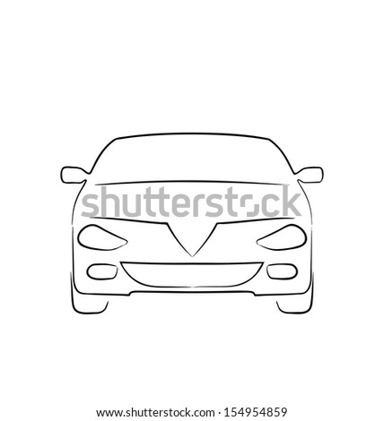 illustration abstract sport car