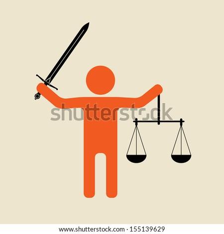 judge   simple justice symbol