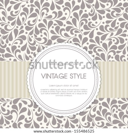 vector vintage card with floral