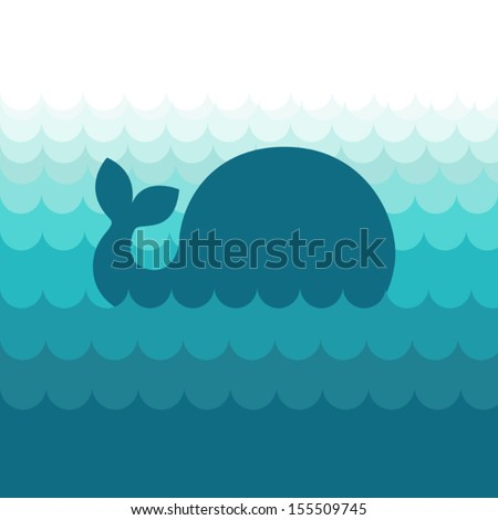 blue whale in the sea waves