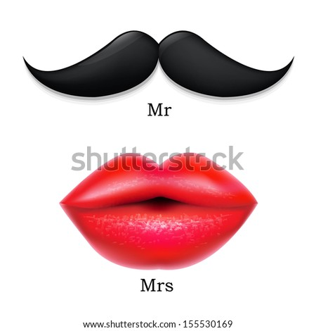 moustaches with lips  with