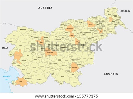 slovenia administrative map