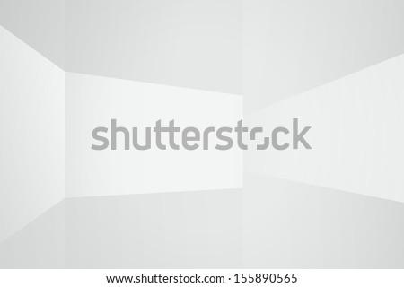 empty white room space