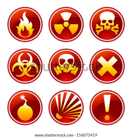 round warning icons