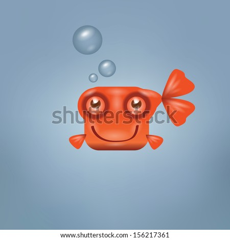 goldfish vector format