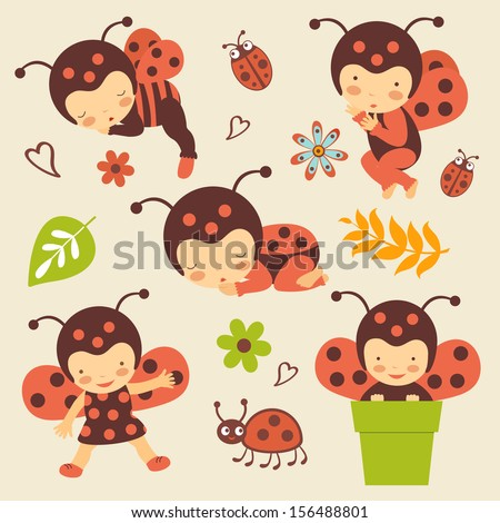 cute ladybug babies collection