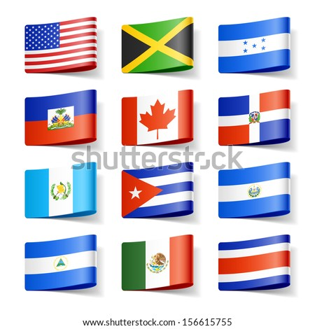 world flags north america