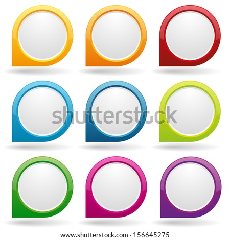 colorful round button collection