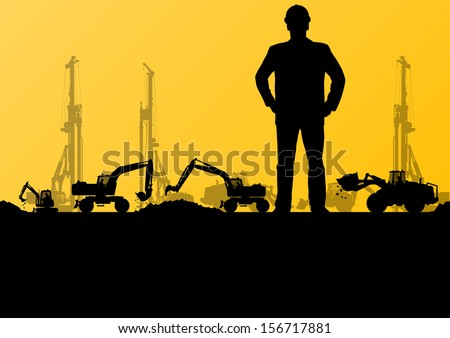engineer man with excavator