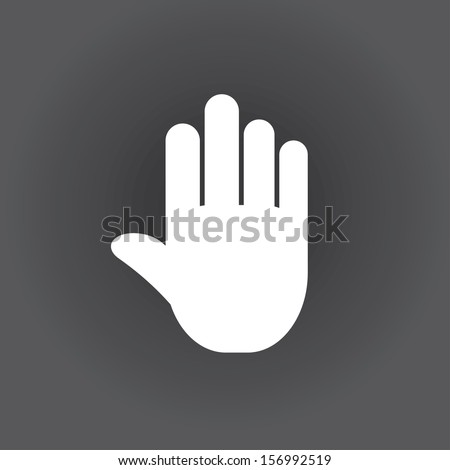 stop icon hand vector eps8