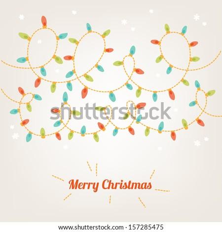 christmas card with garland