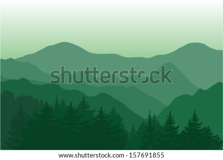 vector landscape of beautiful
