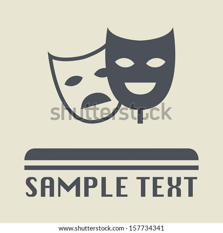 theater mask icon or sign